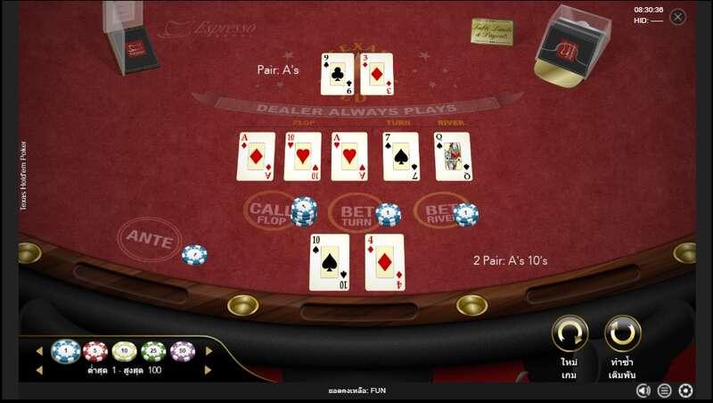 รูปแบบการเล่น Empire777 Poker ไพ่เท็กซัส โฮเอ็ม